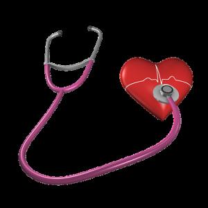 srdce s fonendoskopom