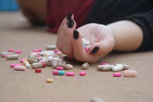 rozsypane tabletky